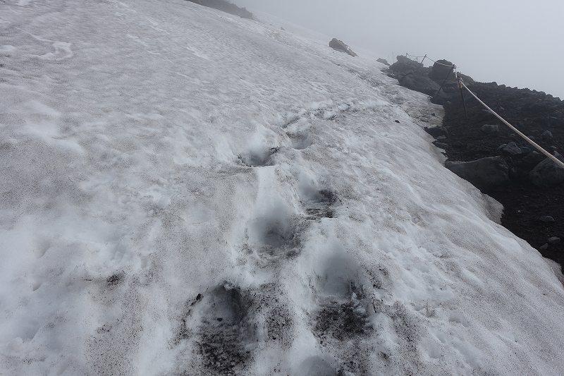 七合目手前の残雪