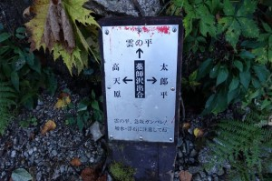 0731_薬師沢出合の道標